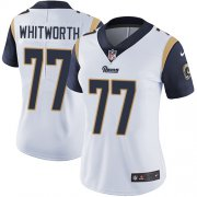 Wholesale Cheap Nike Rams #77 Andrew Whitworth White Women's Stitched NFL Vapor Untouchable Limited Jersey