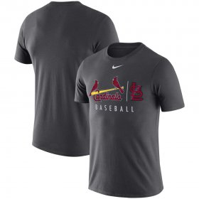 Wholesale Cheap St. Louis Cardinals Nike MLB Practice T-Shirt Anthracite