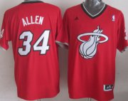 Wholesale Cheap Miami Heat #34 Ray Allen Revolution 30 Swingman 2013 Christmas Day Red Jersey
