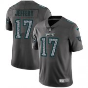Wholesale Cheap Nike Eagles #17 Alshon Jeffery Gray Static Youth Stitched NFL Vapor Untouchable Limited Jersey