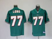 Wholesale Cheap Dolphins Jake Long #77 Green Stitched Team Color NFL Jersey