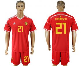 Wholesale Cheap Belgium #21 Carrasco Red Home Soccer Country Jersey