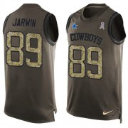Wholesale Cheap Nike Cowboys #89 Blake Jarwin Green Men's Stitched NFL Limited Salute To Service Tank Top Jersey