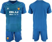 Wholesale Cheap Valencia Blank Blue Goalkeeper Soccer Club Jersey