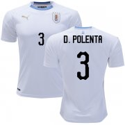 Wholesale Cheap Uruguay #3 D.Polenta Away Soccer Country Jersey