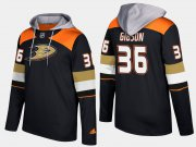 Wholesale Cheap Ducks #36 John Gibson Black Name And Number Hoodie