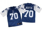 Wholesale Nike Cowboys #70 Zack Martin Navy Blue/White Throwback Men's Stitched NFL Elite Jersey