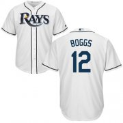 Wholesale Cheap Rays #12 Wade Boggs White Cool Base Stitched Youth MLB Jersey