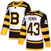 Wholesale Cheap Adidas Bruins #43 Danton Heinen White Authentic 2019 Winter Classic Stitched NHL Jersey