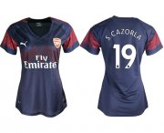 Wholesale Cheap Women's Arsenal #19 S.Cazorla Away Soccer Club Jersey