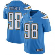 Wholesale Cheap Nike Chargers #98 Isaac Rochell Electric Blue Alternate Men's Stitched NFL Vapor Untouchable Limited Jersey