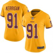 Wholesale Cheap Nike Redskins #91 Ryan Kerrigan Gold Women's Stitched NFL Limited Rush Jersey