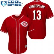 Wholesale Cheap Reds #13 Dave Concepcion Red Cool Base Stitched Youth MLB Jersey