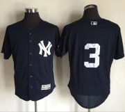 Wholesale Yankees #3 Babe Ruth Navy Blue Flexbase Authentic Collection Stitched Baseball Jersey