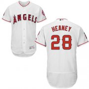 Wholesale Cheap Angels of Anaheim #28 Andrew Heaney White Flexbase Authentic Collection Stitched MLB Jersey