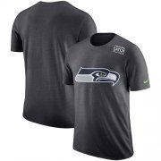 Wholesale Cheap NFL Men's Seattle Seahawks Nike Anthracite Crucial Catch Tri-Blend Performance T-Shirt