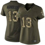 Wholesale Cheap Nike Eagles #13 Nelson Agholor Green Women's Stitched NFL Limited 2015 Salute to Service Jersey