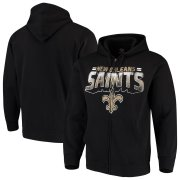 Wholesale Cheap New Orleans Saints G-III Sports by Carl Banks Perfect Season Full-Zip Hoodie Black
