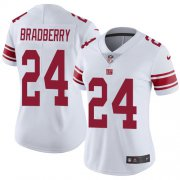Wholesale Cheap Nike Giants #24 James Bradberry White Women's Stitched NFL Vapor Untouchable Limited Jersey