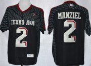 Wholesale Cheap Texas A&M Aggies #2 Johnny Manziel 2013 Black Jersey