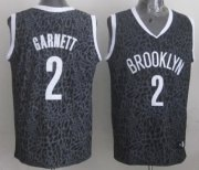 Wholesale Cheap Brooklyn Nets #2 Kevin Garnett Black Leopard Print Fashion Jersey