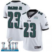 Wholesale Cheap Nike Eagles #23 Rodney McLeod Jr White Super Bowl LII Men's Stitched NFL Vapor Untouchable Limited Jersey