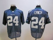 Wholesale Cheap Seahawks #24 Marshawn Lynch Blue Stitched NFL Jersey
