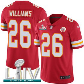Wholesale Cheap Nike Chiefs #26 Damien Williams Red Super Bowl LIV 2020 Team Color Youth Stitched NFL Vapor Untouchable Limited Jersey