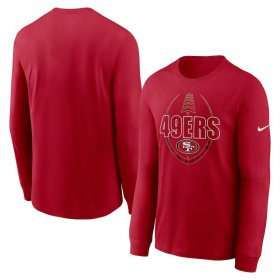 Wholesale Cheap San Francisco 49ers Nike Icon Legend Performance Long Sleeve T-Shirt Scarlet