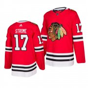 Wholesale Cheap Chicago Blackhawks #17 Dylan Strome 2019-20 Adidas Authentic Home Red Stitched NHL Jersey