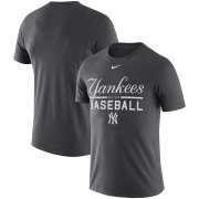 Wholesale Cheap New York Yankees Nike Wordmark Practice Performance T-Shirt Anthracite
