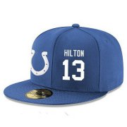 Wholesale Cheap Indianapolis Colts #13 T.Y. Hilton Snapback Cap NFL Player Royal Blue with White Number Stitched Hat