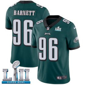 Wholesale Cheap Nike Eagles #96 Derek Barnett Midnight Green Team Color Super Bowl LII Youth Stitched NFL Vapor Untouchable Limited Jersey