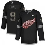 Wholesale Cheap Adidas Red Wings #9 Gordie Howe Black Authentic Classic Stitched NHL Jersey
