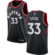Wholesale Cheap Raptors #33 Marc Gasol Black Women's Basketball Swingman Statement Edition Jersey