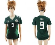 Wholesale Cheap Women's Mexico #9 Raul Home Soccer Country Jersey