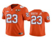 Wholesale Cheap Men's Clemson Tigers #23 Andrew Booth Jr. Orange 2020 National Championship Game Jersey