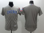Wholesale Cubs Blank Grey Flexbase Authentic Collection Road Stitched Baseball Jersey