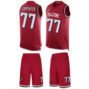 Wholesale Cheap Nike Falcons #77 James Carpenter Red Team Color Men's Stitched NFL Limited Tank Top Suit Jersey