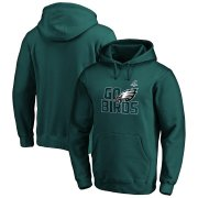 Wholesale Cheap Philadelphia Eagles 2019 NFL Playoffs Bound Hometown Checkdown Pullover Hoodie Midnight Green