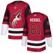 Wholesale Cheap Adidas Coyotes #81 Phil Kessel Maroon Home Authentic Drift Fashion Stitched NHL Jersey