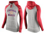 Wholesale Cheap Women's Nike Chicago Bears Performance Hoodie Grey & Red