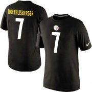 Wholesale Cheap Nike Pittsburgh Steelers #7 Ben Roethlisberger Pride Name & Number NFL T-Shirt Black
