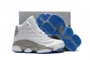 Wholesale Cheap Kids' Air Jordan 13 Retro Shoes White/Grey-UNC blue