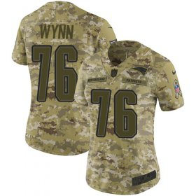 Wholesale Cheap Nike Patriots #76 Isaiah Wynn Camo Women\'s Stitched NFL Limited 2018 Salute to Service Jersey