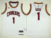 Wholesale Cheap Cleveland Cavaliers #1 Derrick Rose White Home Stitched NBA Jersey