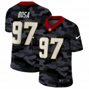 Cheap Los Angeles Chargers #97 Joey Bosa Men's Nike 2020 Black CAMO Vapor Untouchable Limited Stitched NFL Jersey