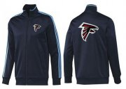Wholesale Cheap NFL Atlanta Falcons Team Logo Jacket Dark Blue