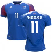 Wholesale Cheap Iceland #11 Finnbogason Home Soccer Country Jersey