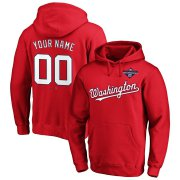 Wholesale Cheap Washington Nationals Majestic 2019 World Series Champions Custom Pullover Hoodie Red